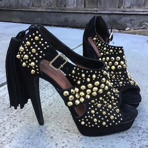 Jeffrey Campbell Ponytail Studs Heels Sandals